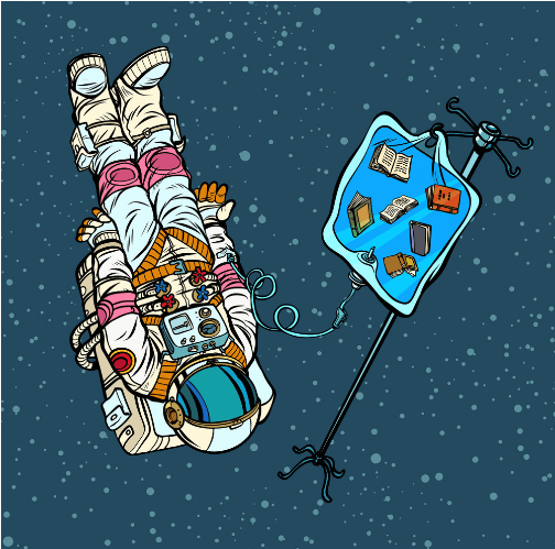 writing in space