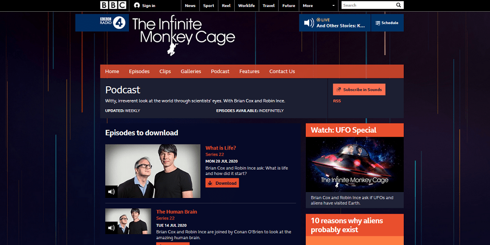 infinite monkey cage best science podcasts