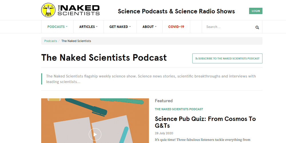 naked scientists best science podcasts